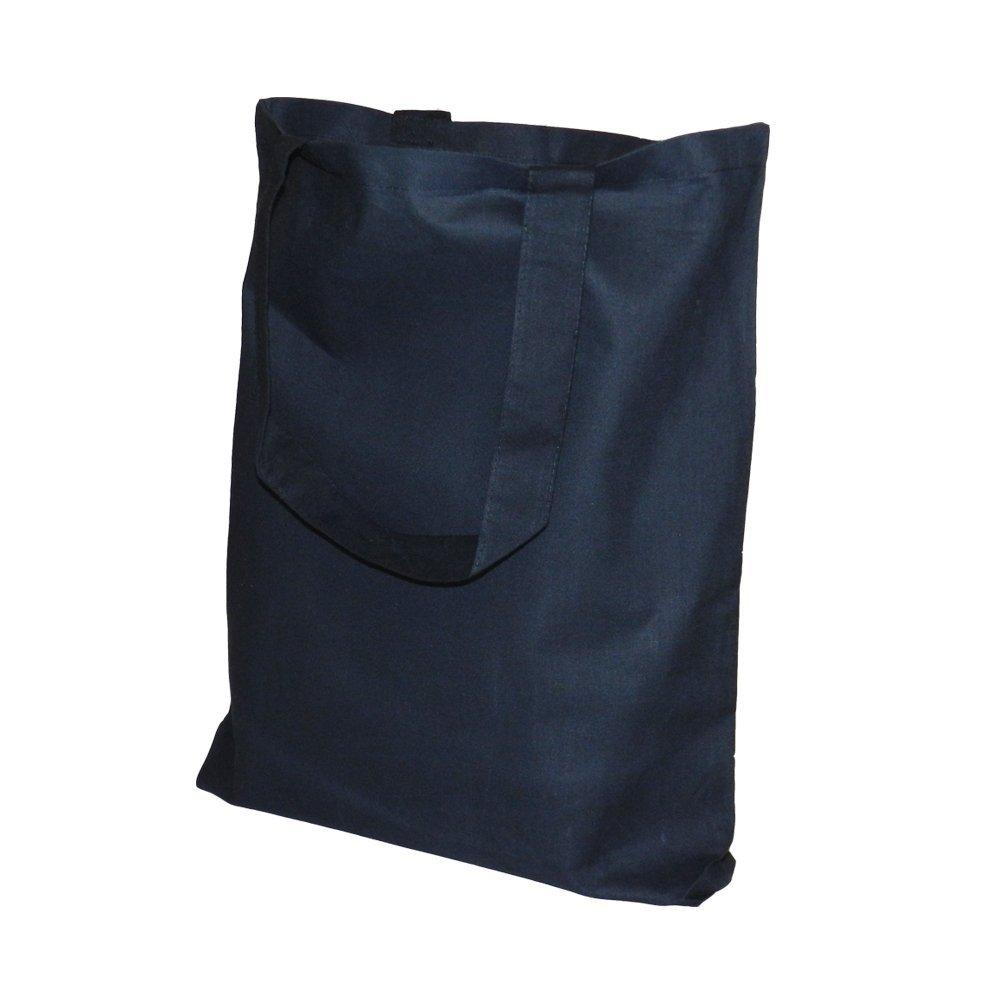 Black Canvas Tote Bag Made of Cotton 15 X 16 X 3 Shopping Bag, Craft Bag, Beach Bag, Grocery Bag, Travel Bag, Tote Bag for School, Book Bag, Diaper Bag (1, Black) by Q-Tees of California B01EMJ9OFQ ブラック|1 ブラック