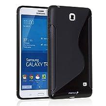Fosmon® Samsung Galaxy Tab 4 7.0 (DURA-S) Flexible TPU Shell Cover Case for Samsung Galaxy Tab 4 7.0 Tablet - Fosmon Retail Packaging (Black)