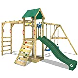 WICKEY Climbing Frame Smart Bridge Climbing Tower with Swing, Slide, Sandpit and Climbing Extension