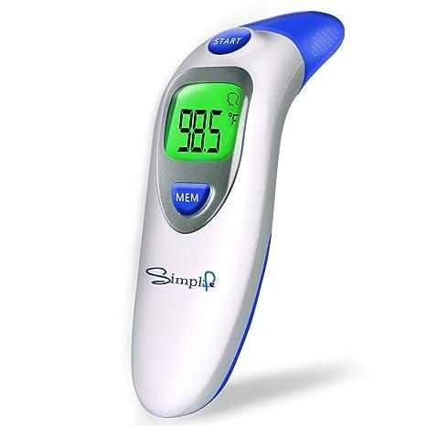 Simplife - Termómetro digital infrarrojo para la frente y los oídos, electrónico, clínico,