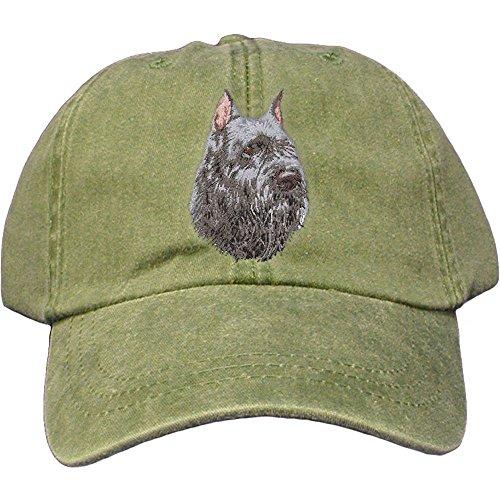 Cherrybrook Dog Breed Embroidered Adams Cotton Twill Caps - Spruce - Bouvier des Flandres