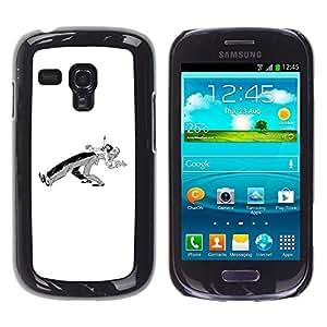 """For Samsung Galaxy S3 MINI ( NOT for regular S3 Case , Bailarines Pareja Minimalista Negro Blanco"""" - Diseño Patrón Teléfono Caso Cubierta Case Bumper Duro Protección Case Cover Funda"""