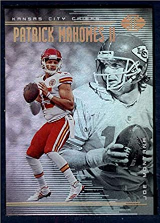 reputable site eeb5b 5e404 2018 Panini Illusions Football #45 Joe Montana/Patrick Mahomes II Kansas  City Chiefs Official NFL Trading Card