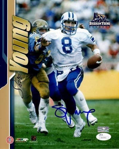 7b9e02ade Steve Young Autographed Signed Auto Brigham Young BYU Cougars 8x10 ...