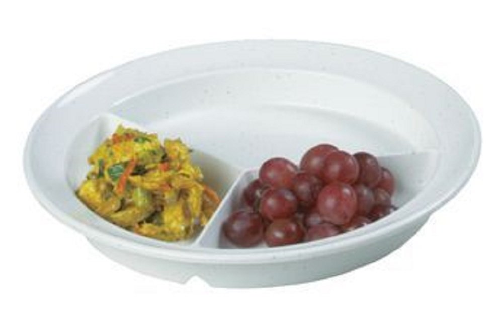 Compartment Dish (Light Grey Fleck Compartment Dish Package of 5)
