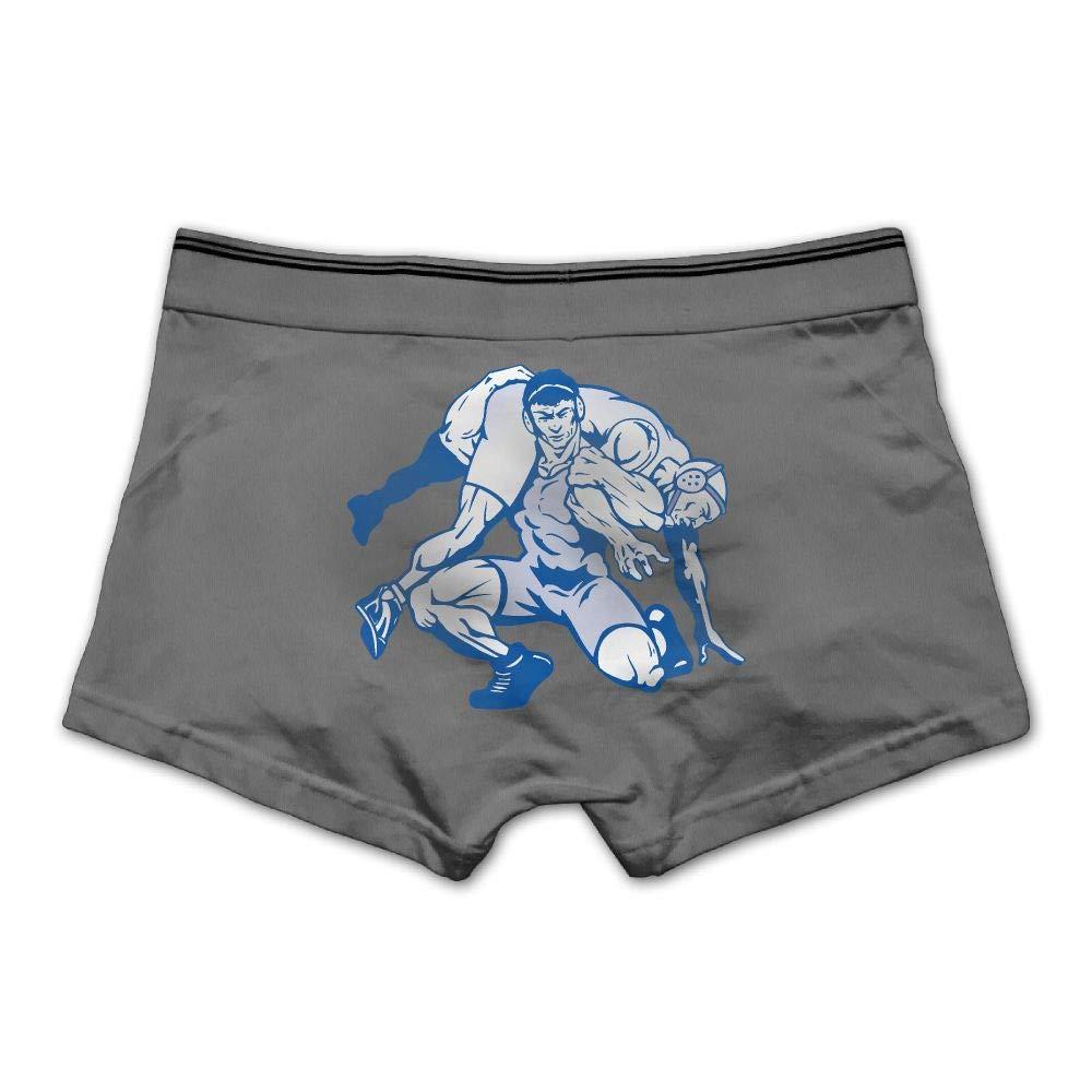 Lesi Yes Men's Underpants Boxer Briefs Wrestling Underwear Low Waist Cotton No Trace