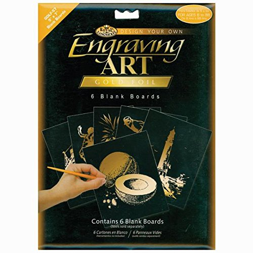 Royal Brush Foil Engraving Art Blank Boards, 5 by 7-Inch, Copper, 6-Pack BEF57-COPF