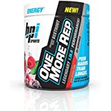 BPI Sports One More Rep Pre-Workout Powder - Increase Energy and Stamina - Intense Strength - Recover Faster - Beetroot - Carnitine - Citrulline - 0 Calories - Raspberry Tea - 25 Servings - 8.8 oz.