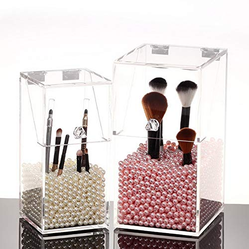 Mikash Clear Acrylic Cosmetic Makeup Case Lipstick Organizer Holder Jewelry Storage Box | Model JWRLBX - 1612 | ()