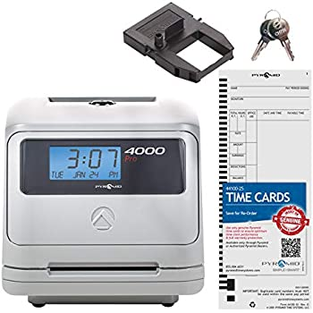 Pyramid 3550ss SmartSite Time Clock and Document Stamp Made in USA