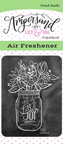Enjoy It Ampersand by Lily & Val Be Full of Joy Air Freshener (French Vanilla Scented)