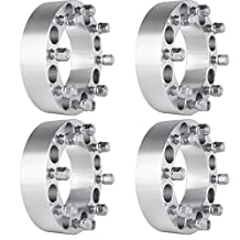 "Scitoo 4X 2"" 50mm Thick 8x6.5 8x165.1mm 9/16"" Studs Wheel Spacers For Dodge Ram 3500 Ram 2500 Ford F-350 F-250"