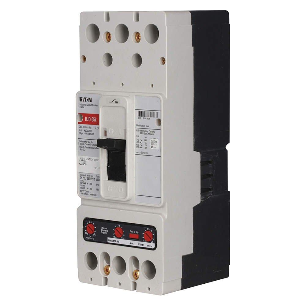 Eaton Circuit Breaker HFD3100BP10 100 Amp 600 Volt 3 Pole HFD3100