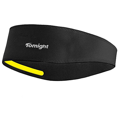Sweatband, Tomight Moisture Wicking Headband Wrap with Pullover Design Both for Men and Women (Black)