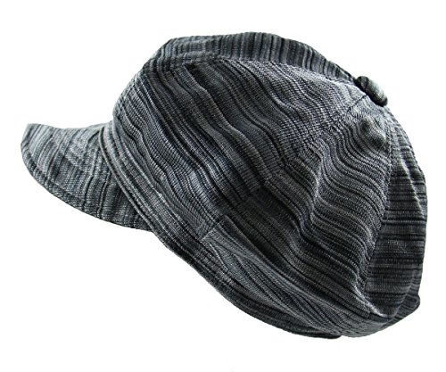 - NY Ladies Newsboy Caps (Black/Gray)