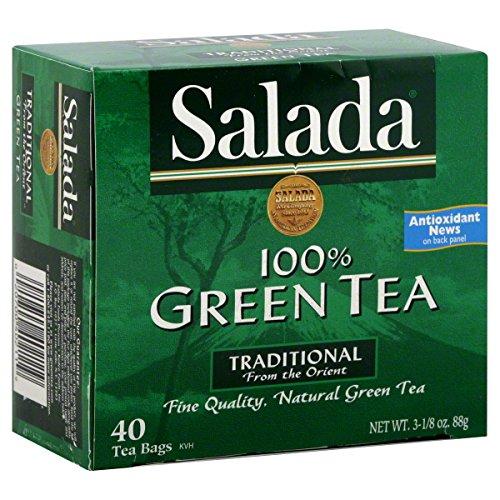 Salada Natural Green Tea Caffeine 1.83 oz, 40 - Green Tea Salada