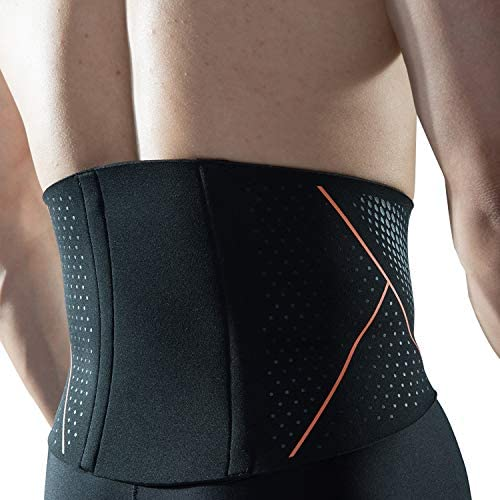 FTEOX Waist Trimmer Belt,Sweat Belt Weight Loss Adjustable Slimming Belt with Back Support Belly Fat Burner and Lumbar Support for Pain Relief in Gym Workout