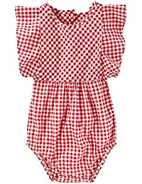 OshKosh B'Gosh Baby Girls' Ruffle Sleeve Bodysuit