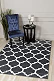 Cheap 3029 Charcoal Moroccan Trellis 5'2×7'2 Area Rug Carpet Large New