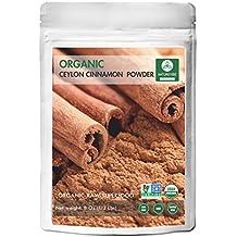 Organic Ceylon Cinnamon Powder (8 Oz) by Naturevibe Botanicals, Raw, Gluten-Free & Non-GMO (8 ounces)