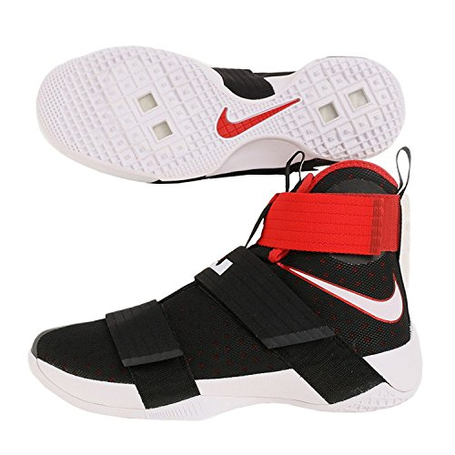 Nike Lebron Soldier 10 Mens Basketball Shoes (10.5 D(M) US, Black/White-University Red)