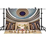 MME 10x7Ft Golden Hall Background United Nations Conference Room Photography Video Studio Props Photo Video Studio Props Backdrop NANME729