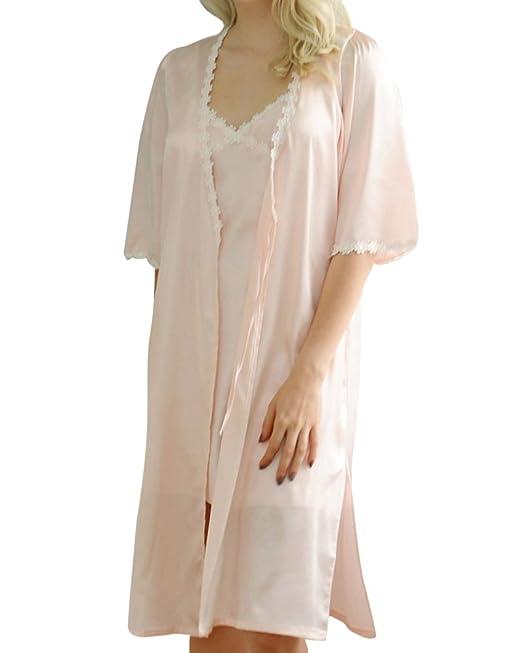 ZhuiKunA Mujer Loose Pijama Camisones Elegante Batas y Kimonos Pijamas: Amazon.es: Ropa y accesorios