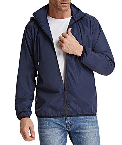kable Waterproof Rain Jacket Lightweight Windbreaker Raincoat ()