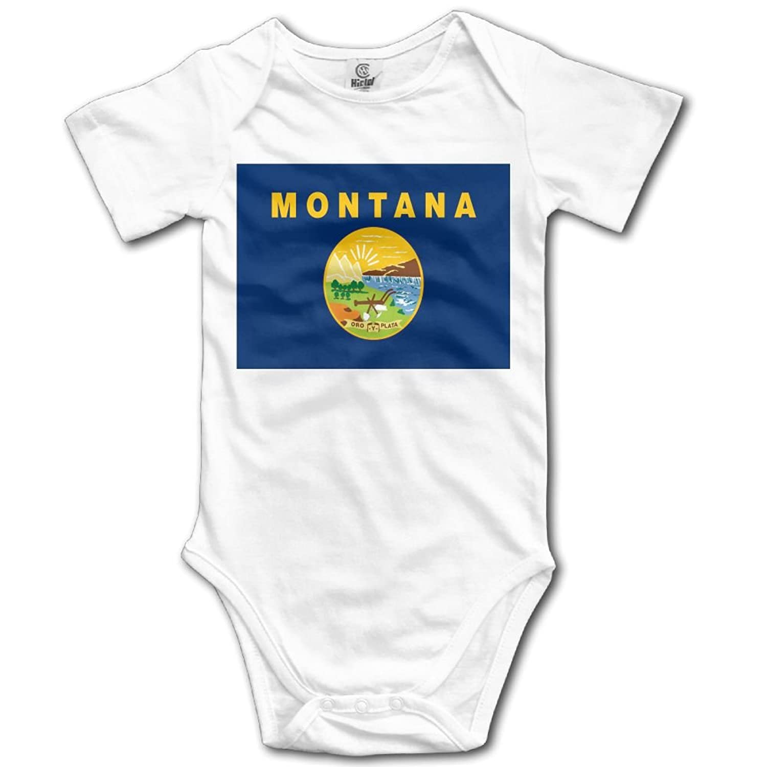 ONE SUIT Montana Flag Funny Baby Onesies Infant Clothes Boys