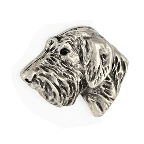 Irish Wolfhound (head), Silver Hallmark 925, Pin Art-Dog