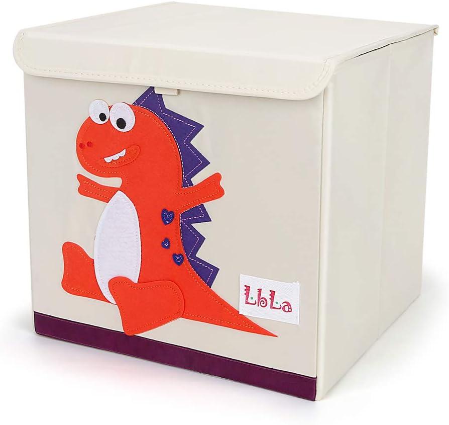 LBLA Niños Juguetes Caja de Tela para Almacenaje con Tapa Plegable y Resistente