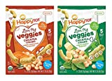 Happy Tot Organic Love My Veggies Chickpea Straws Bundle: Cheddar Spinach & Sweet Potato Rosemary (1 box of each)