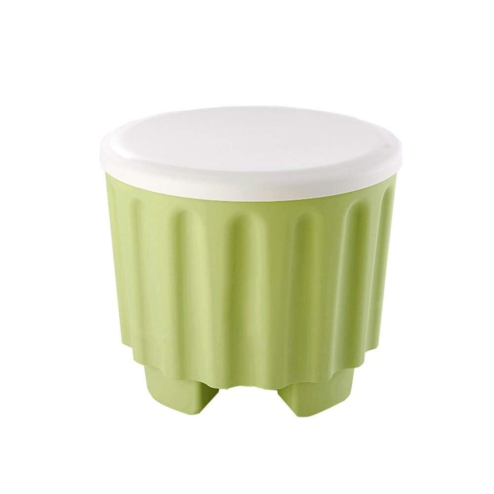 DEE Sofá Taburete de Color se Puede apilar Taburete de Almacenamiento Creativo multifunción Silla de Almacenamiento Taburete de Almacenamiento Cuna sentada en el Taburete de plástico del Taburete del