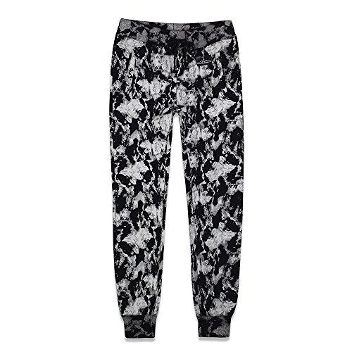ArTees Apparel Modern Gallery Series Ribbed Hem Closed-Bottom Cotton Sweatpants for Women (L, Printed)