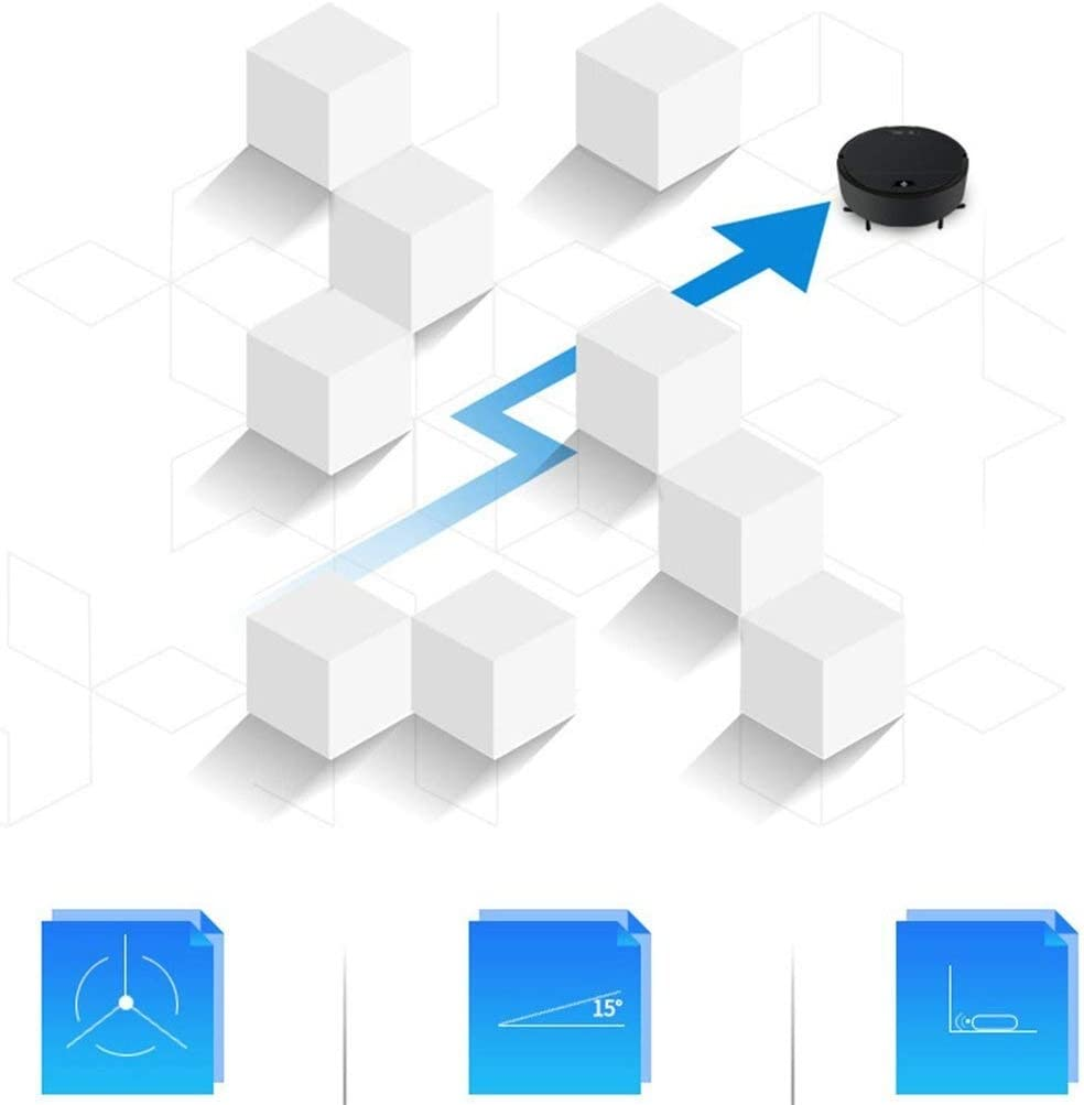 XXFFD Charge de Balayage Automatique de Nettoyage Robot Mini ménagers Machine Lazy Intelligent Aspirateur Portable (Color : Red) Black