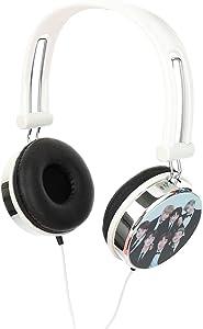 Auriculares blancos con negro de bts