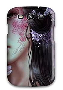 Hot New Girl With Face Tattoo Fantasy Abstract Fantasy Case Cover For Galaxy S3 With Perfect Design