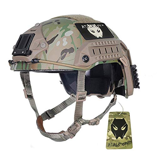 ATAIRSOFT Adjustable Maritime Helmet ABS Multicam MC for Airsoft Paintball