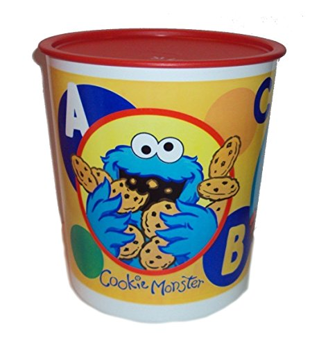 Tupperware Sesame Street Muppets Cookie Monster Elmo 23 Cup Canister ()