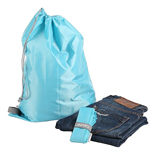 EzPacking Travel Laundry Bag with Drawstring/Foldable Compact Lightweight Small Travel Size for Suitcase/(22