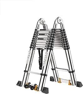 Aluminio Aleación Telescópico Escalera,plegable Extensible Multifunción Escaleras De Mano Extensible Pesada Deber Escalera Antideslizante Escalera-a6 3.7+3.7m: Amazon.es: Bricolaje y herramientas
