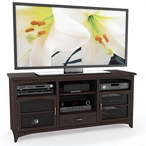 Antiqued Espresso Finish - Sonax B-094-PPT West Lake 60-Inch TV/Component Bench, Dark Espresso