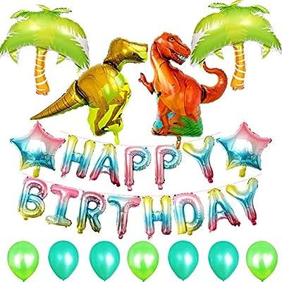 OoB 16 Pulgadas Dinosaurio Feliz Cumpleaños Globos Feliz ...