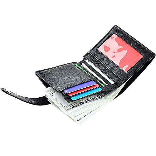 Front Pocket Wallet Credit Card Holder Card Wallet with Snap Bifold Card Case for Women Black