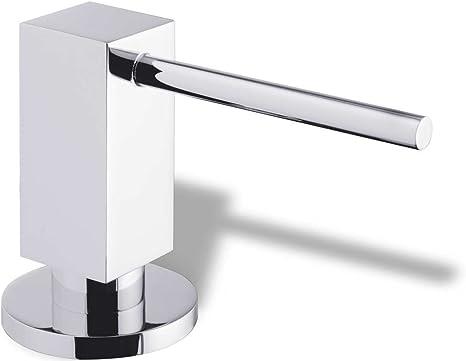 Schock Sani Stainless Steel Effect Washing Up Liquid Dispenser Kitchen Soap Dispenser Amazon De Kuche Haushalt