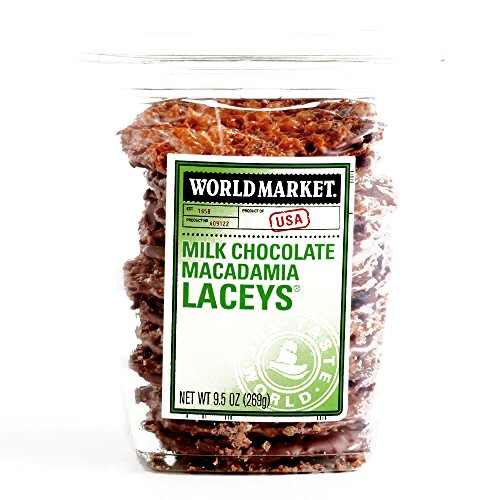 Laceys Cookies - Milk Chocolate Macadamia Nut Lace Cookies with Toffee 10 oz each (2 Items Per Order) by Unknown
