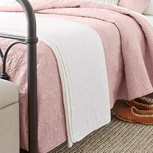 - Stone & Beam Locklar 100% Cotton Lightweight Pick-Stiched Blanket, 80