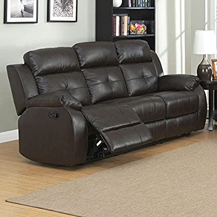 Amazon.com: AC Pacific Troy Collection Modern Upholstered Leather ...