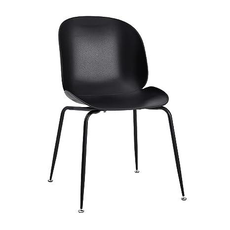 Amazon.com: LRW silla nórdica moderna minimalista silla de ...