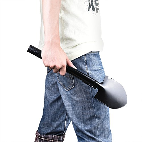 CVLIFE Military Folding Shovel with Carry Pouch for Camping Hiking or Backpacking or Gardening Tool